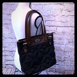 🍁 fossil brand ladies quilted handbag 🍁